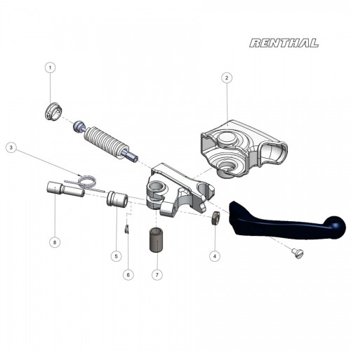 Renthal Gen2 Direct-fit Intellilever Clutch Lever~ LV-117
