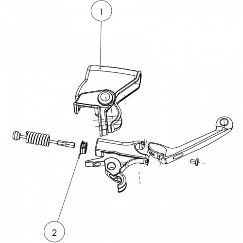 Renthal Lever Shroud Kit LV-123-BK