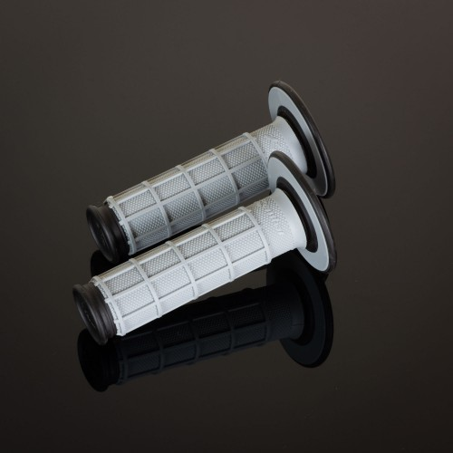 MX Dual Compound Grips Full Waffle Grey