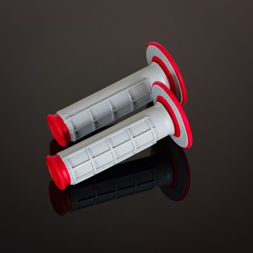 MX Dual Compound Grips 1/2 Waffle Red