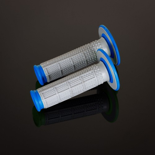 MX Dual Compound Grips Tapered Blue H/Waff