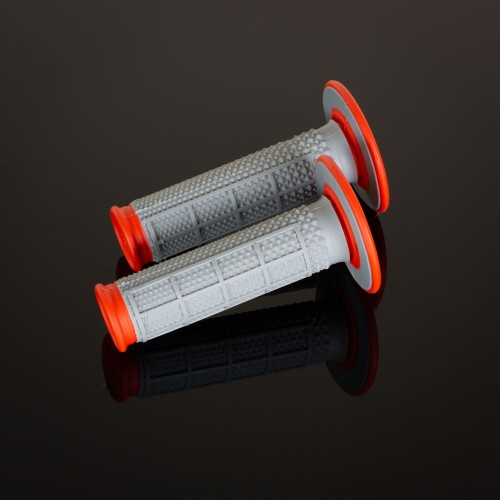 MX Dual Compound Grips Tapered Orange H/Waff
