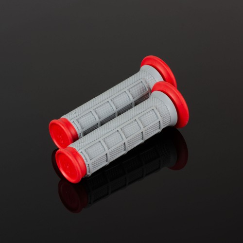 ATV Dual Compound Grips Red