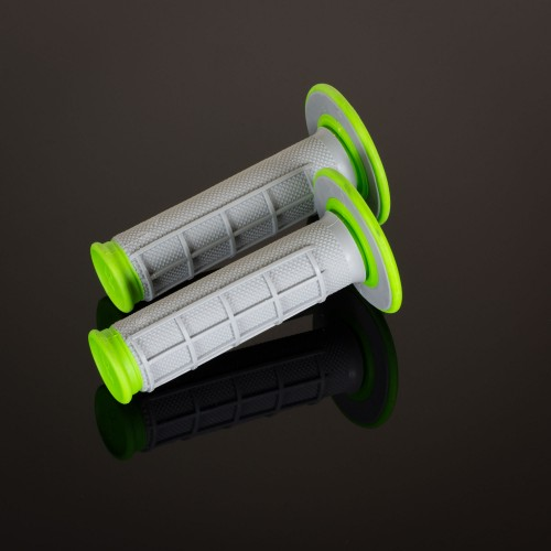 MX Dual Compound Grips Green H/Waff