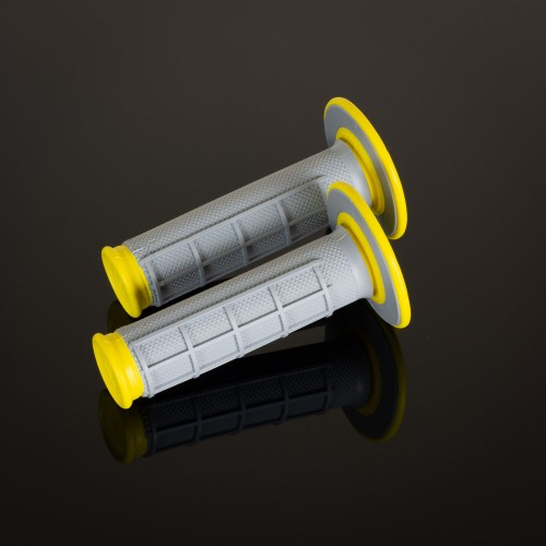 MX Dual Compound Grips Yellow H/Waff